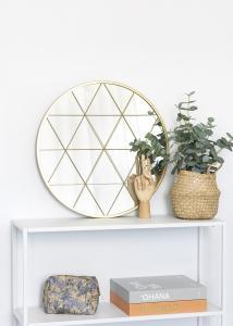 KAILA KAILA Runder Spiegel Triangles - Gold 55 cm Ø