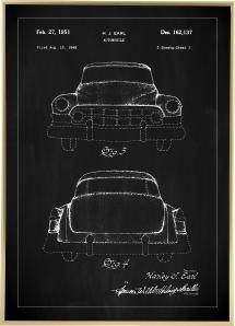 Bildverkstad Patentzeichnung - Cadillac II - Schwarz