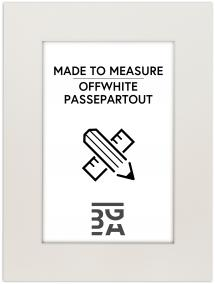 Egen tillverkning - Passepartouter Passepartout Offwhite (weißer Kern) - Maßgefertigt