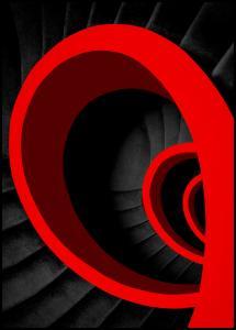 Bildverkstad A red spiral