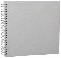 Focus Base Line Canvas Wire-O Beige 30x30 cm (50 weiße Seiten / 25 Blatt)