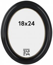 Estancia Eiri Mozart Oval Schwarz 18x24 cm