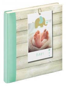 Walther Welcome Babyalbum Grün - 28x30,5 cm (50 weiße Seiten / 25 Blatt)
