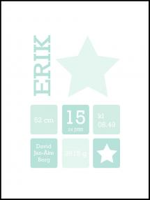 Personlig poster Star Birth Poster II Green