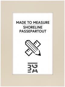 Egen tillverkning - Passepartouter Passepartout Weiß - Maßanfertigung (Weißer Kern)