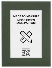 Egen tillverkning - Passepartouter Passepartout Moosgrün - Maßgefertigt (weißer Kern)