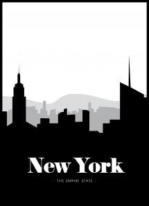 Bildverkstad New York Skyline Poster