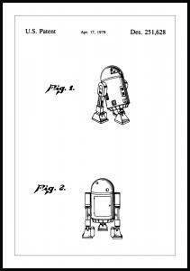 Lagervaror egen produktion Patentzeichnung - Star Wars - R2-D2 Poster
