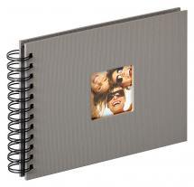Walther Fun Spiralalbum Grau - 23x17 cm (40 schwarze Seiten / 20 Blatt)