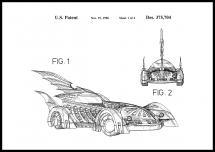 Bildverkstad Patentzeichnung - Batman - Batmobile 1996 I Poster
