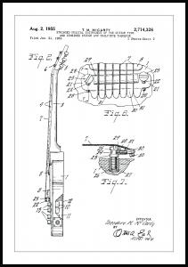 Bildverkstad Patentzeichnung - E-Gitarre II Poster