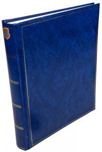 Henzo Henzo Basic Line Fotoalbum Blau - 30x36 cm (80 weiße Seiten / 40 Blatt)