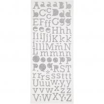 Focus Focus Glitter Stickers Silber Letters