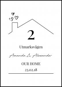Personlig poster Our Home