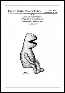 Bildverkstad Patentzeichnung - Die Muppets - Kermit I