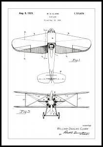 Lagervaror egen produktion Patentzeichnung - Flugzeug - Weiß