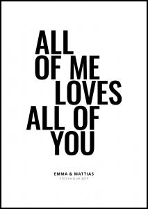 Personlig poster All of me - White
