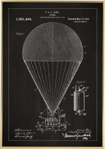 Bildverkstad Patentzeichnung - Luftschiff - Schwarz