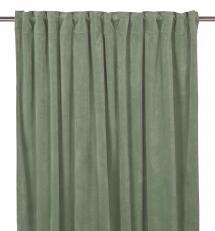 Fondaco Schlaufenvorhang Velvet - Agavengrün 2er-Set