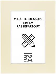 Egen tillverkning - Passepartouter Passepartout Creme (Weiß kärna) - Maßgefertigt