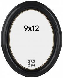 Estancia Eiri Mozart Oval Schwarz 9x12 cm