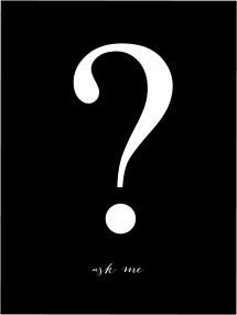 Bildverkstad Ask me - Schwarz mit weißem Druck