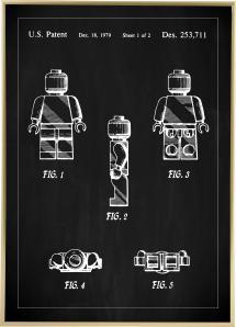 Lagervaror egen produktion Patentzeichnung - Lego I - Schwarz