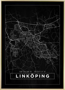 Bildverkstad Map - Linköping - Black