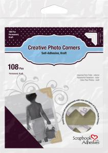 3L Creative Photo Corners Brun - 108 st