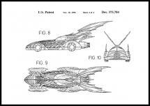 Bildverkstad Patentzeichnung - Batman - Batmobile 1996 IIII