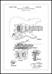 Bildverkstad Patent Print - Tremolo Device - White