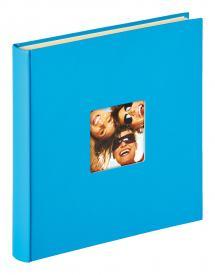 Walther Fun selbstklebend Meerblau - 33x34 cm (50 weiße Seiten / 25 Blatt)