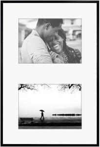 New Lifestyle Collage-Rahmen Schwarz - 2 Bilder (20x30 cm)