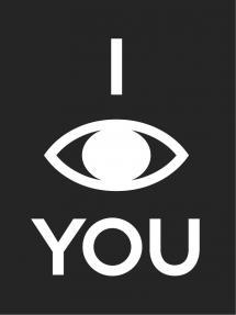 Bildverkstad I see you - Schwarz mit weißem Druck
