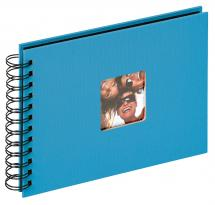 Walther Fun Spiralalbum Meerblau - 23x17 cm (40 schwarze Seiten / 20 Blatt)