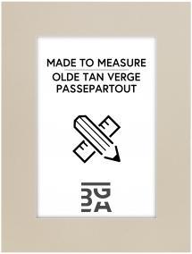 Egen tillverkning - Passepartouter Passepartout Olde Tan Verge 3 mm (Weißer Kern) - Maßanfertigung