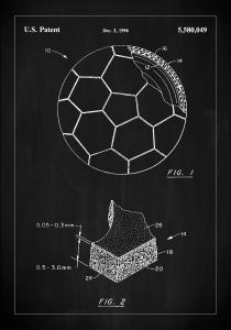 Bildverkstad Patent Print - Football - Black Poster