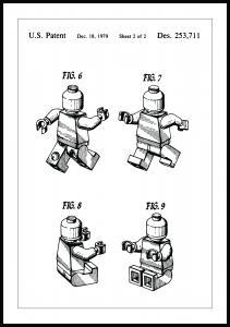 Lagervaror egen produktion Patentzeichnung - Lego II Poster