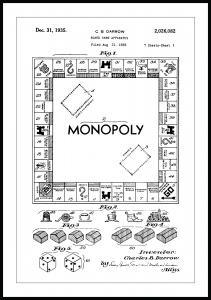 Lagervaror egen produktion Patentzeichnung - Monopoly I Poster