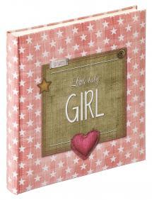 Walther Little Babyalbum Girl Rosa - 28x30,5 cm (50 weiße Seiten / 25 Blatt)