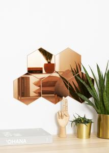 KAILA KAILA Spiegel Hexagon Rose Gold 18x21 cm - 5er-Pack