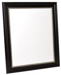 Spegelverkstad Spiegel Mora Schwarz-Silber - Maßgefertigt