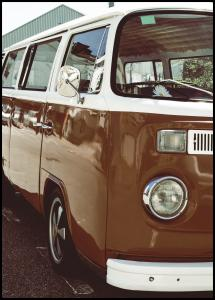 Lagervaror egen produktion Red Volkswagen Bus Poster