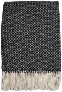 Redlunds Plaid Shetland - Schwarz/Weiß 130x170 cm