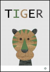 Bildverkstad Fabric tiger
