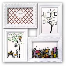 ZEP Cordoba Collage-Rahmen Acrylglas Weiß - 4 Bilder